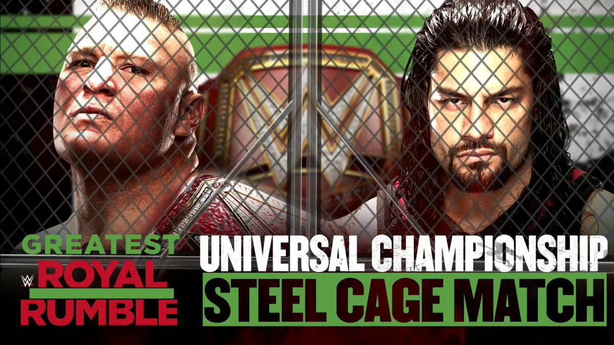 roman vs lesnar steel cage match grr