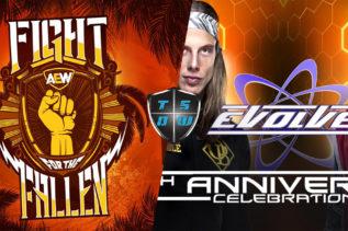 WWE e AEW: EVOLVE vs Fight For The Fallen