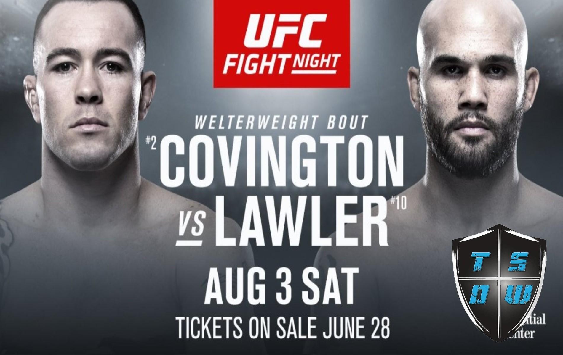 UFC Newark: Covington vs Lawler
