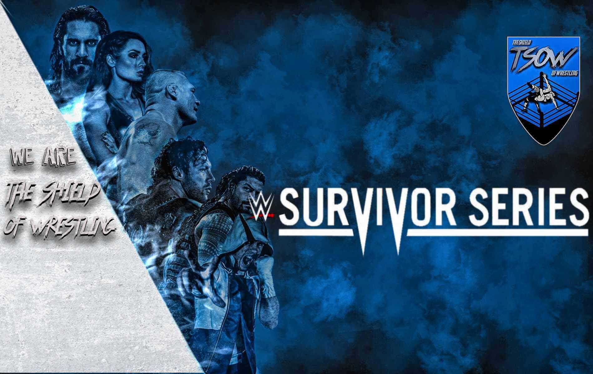 Survivor Series: tutti gli aggiornamenti sulla card dello storico evento WWE - WWE