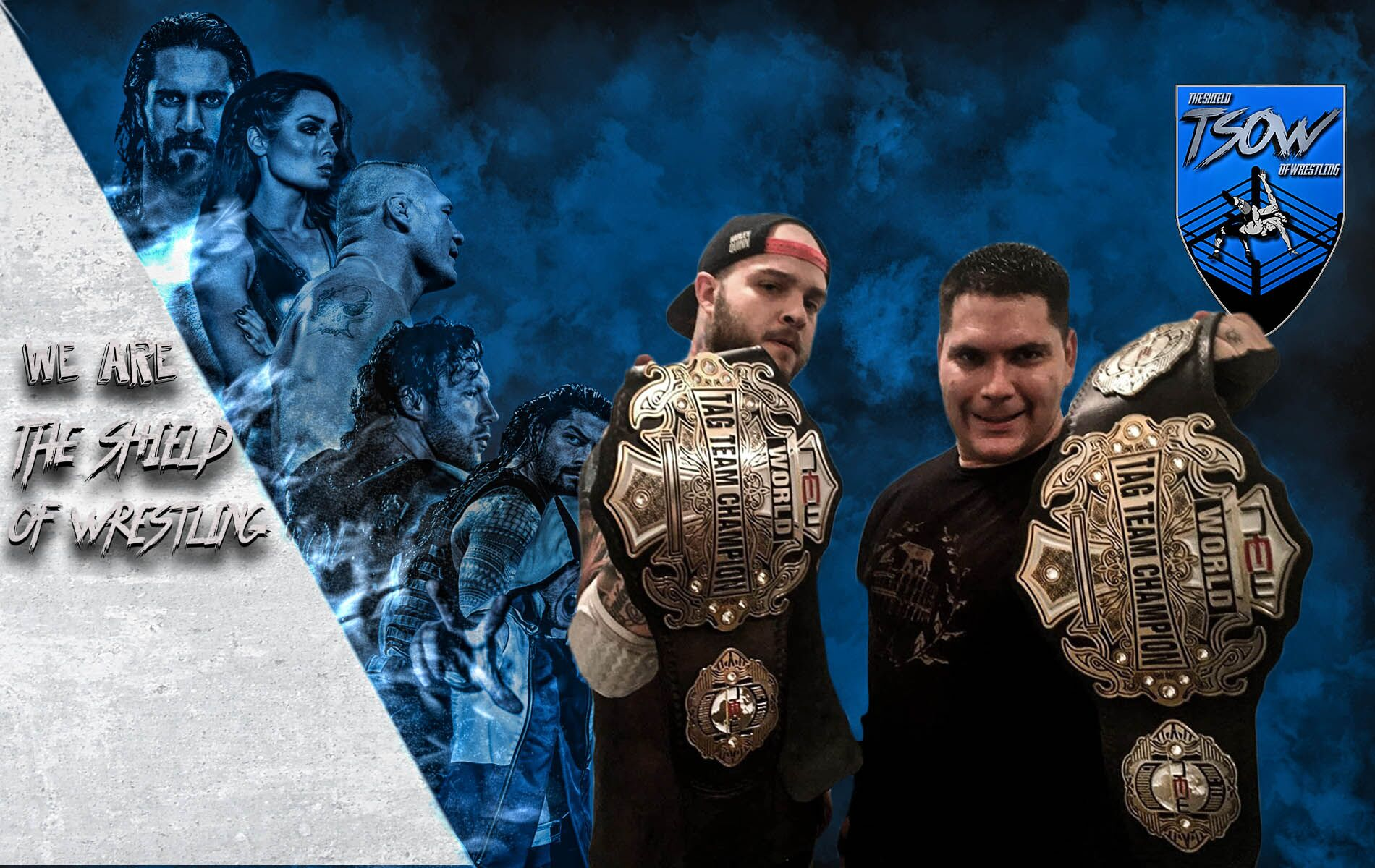 Chris Steel e Flavio Augusto - New European Championship Wrestling