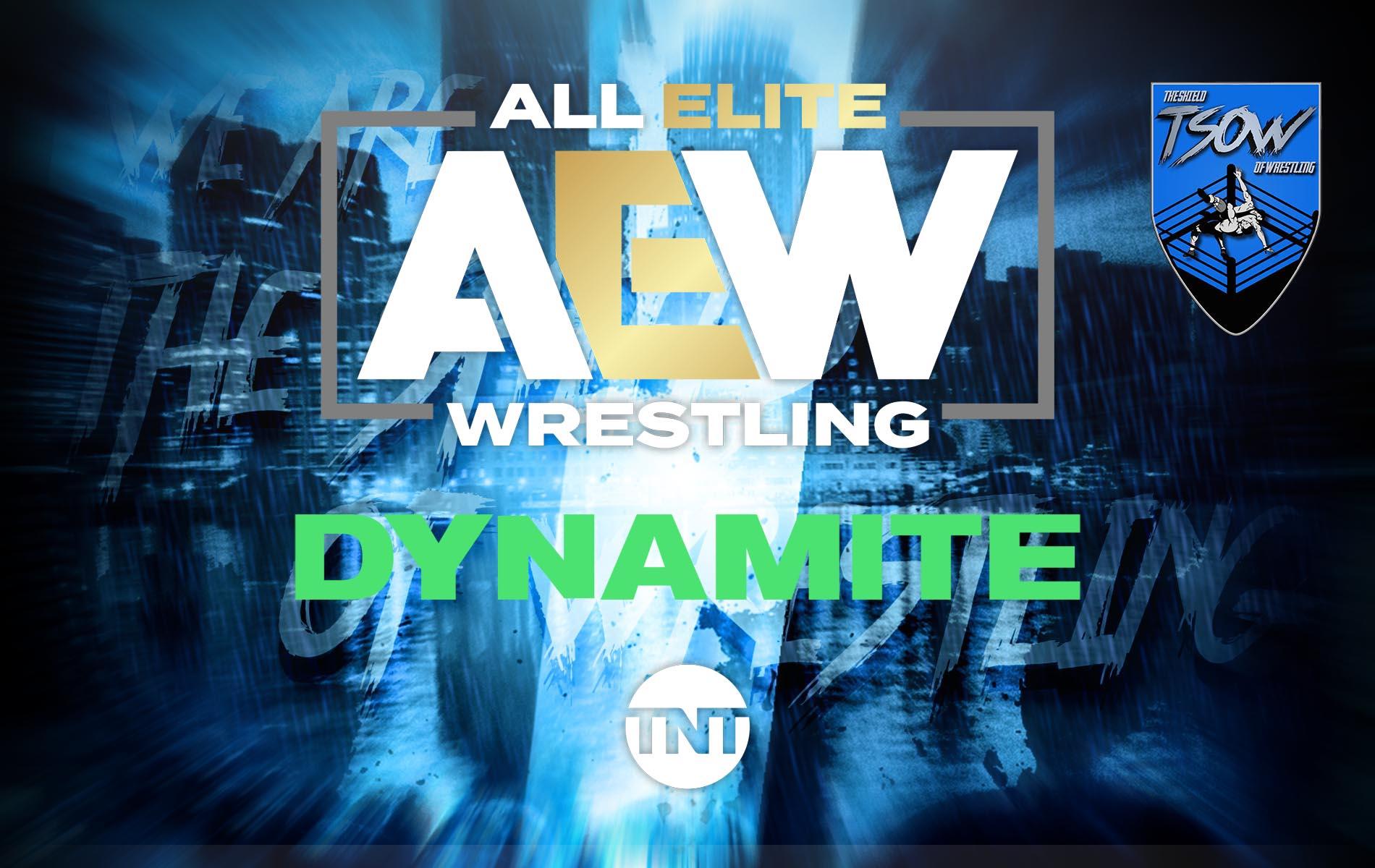 AEW DYNAMITE: Nuovi annunci per l'episodio di questa notte