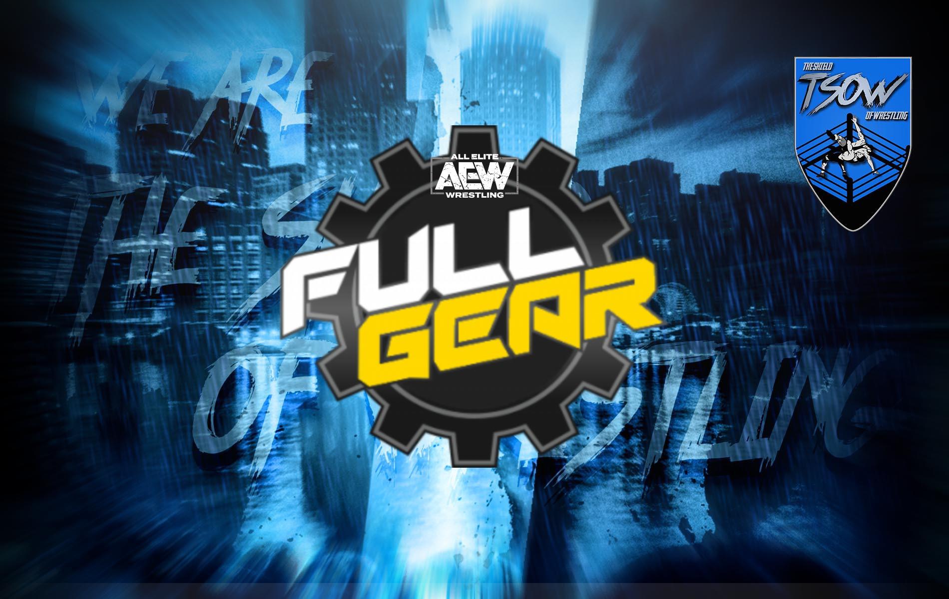 Full Gear: annunciati tre incontri per il prossimo evento AEW