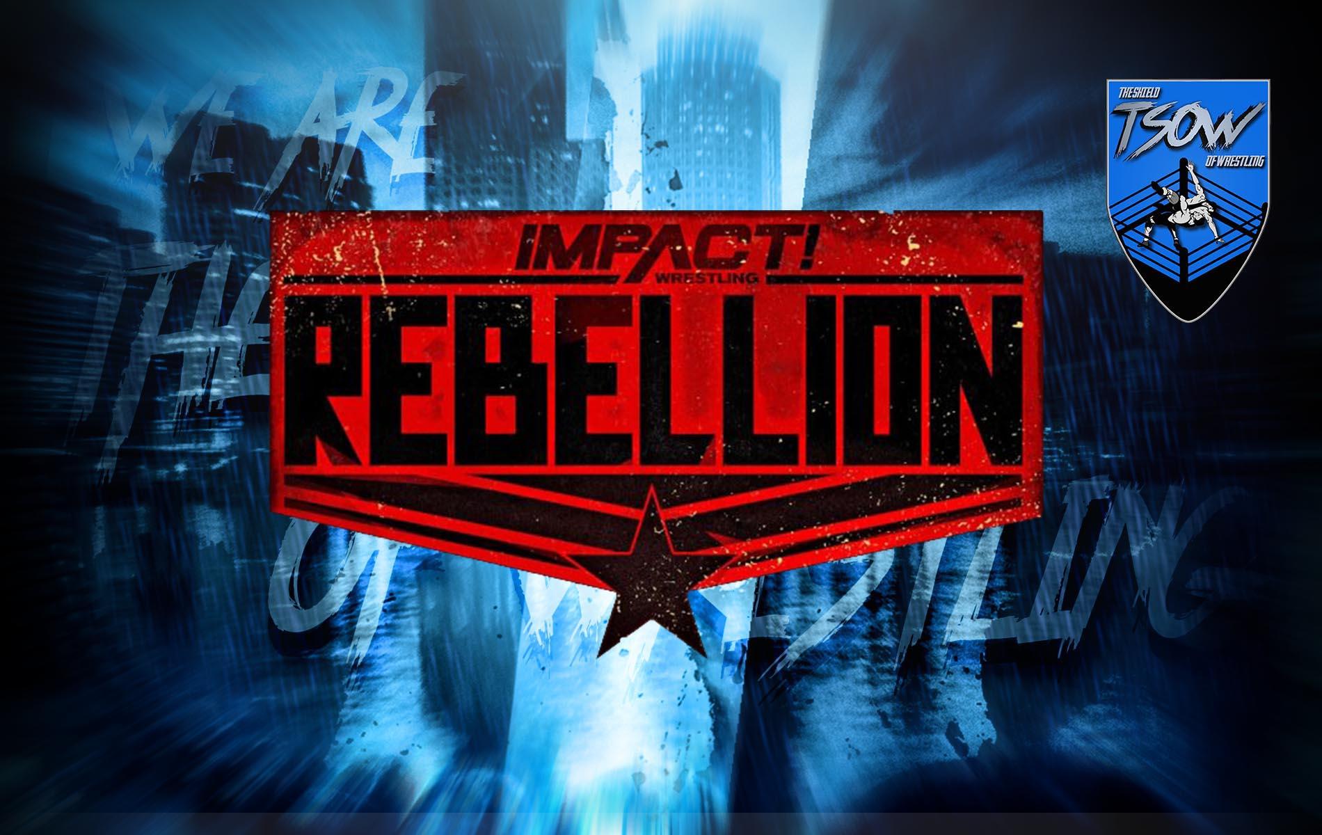 IMPACT Wrestling: annunciata la data del PPV Rebellion
