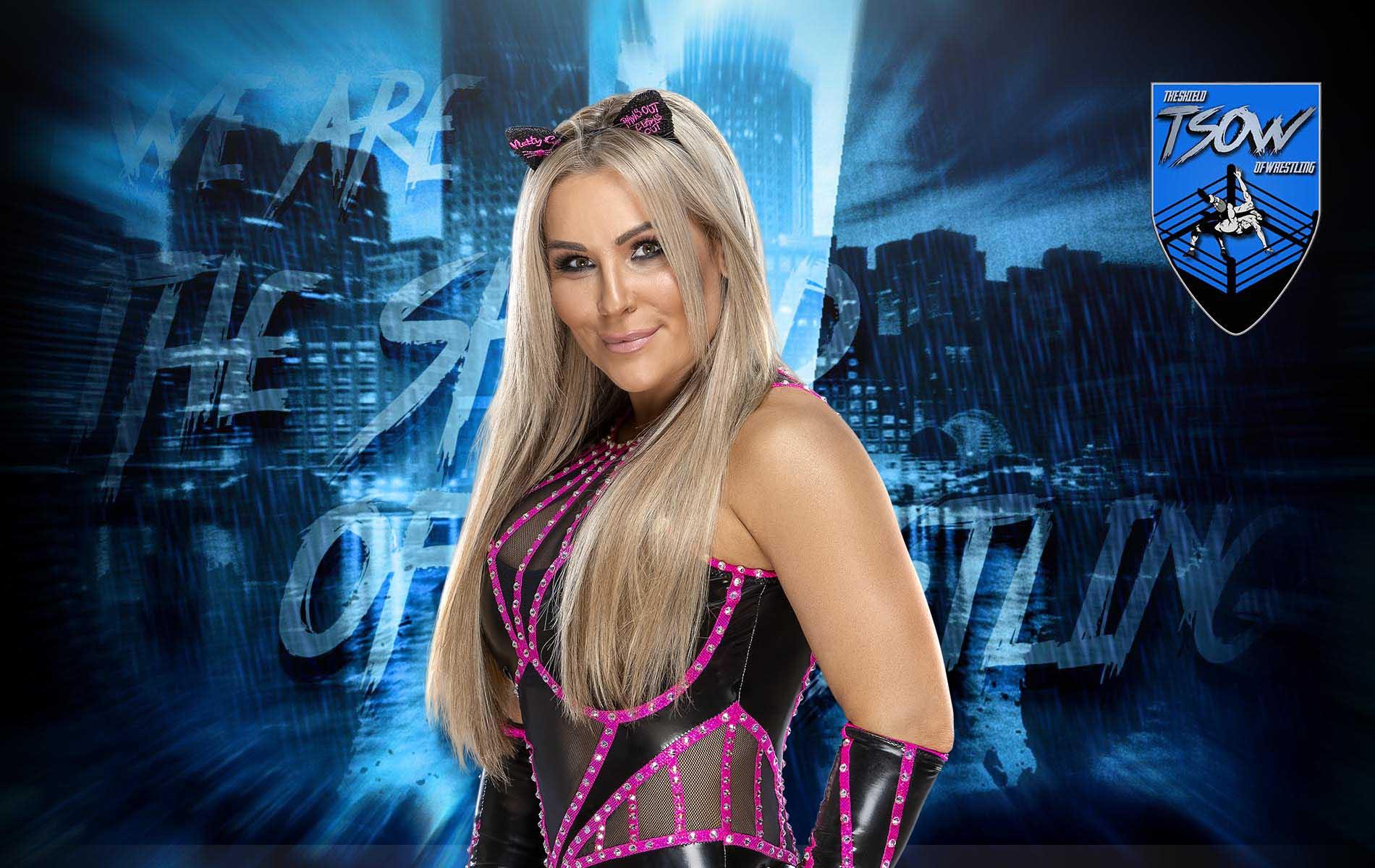Natalya: bacio all'arbitro durante SmackDown