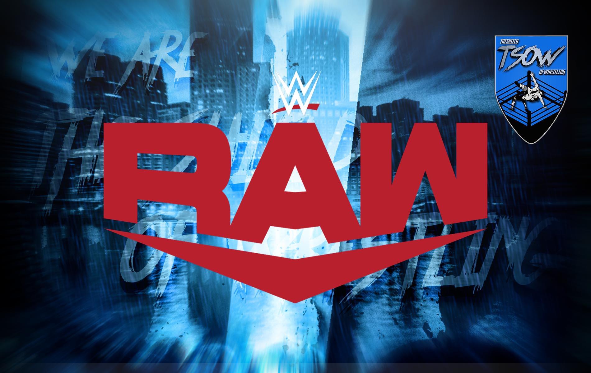 RAW: annunciati diversi match per la prossima puntata