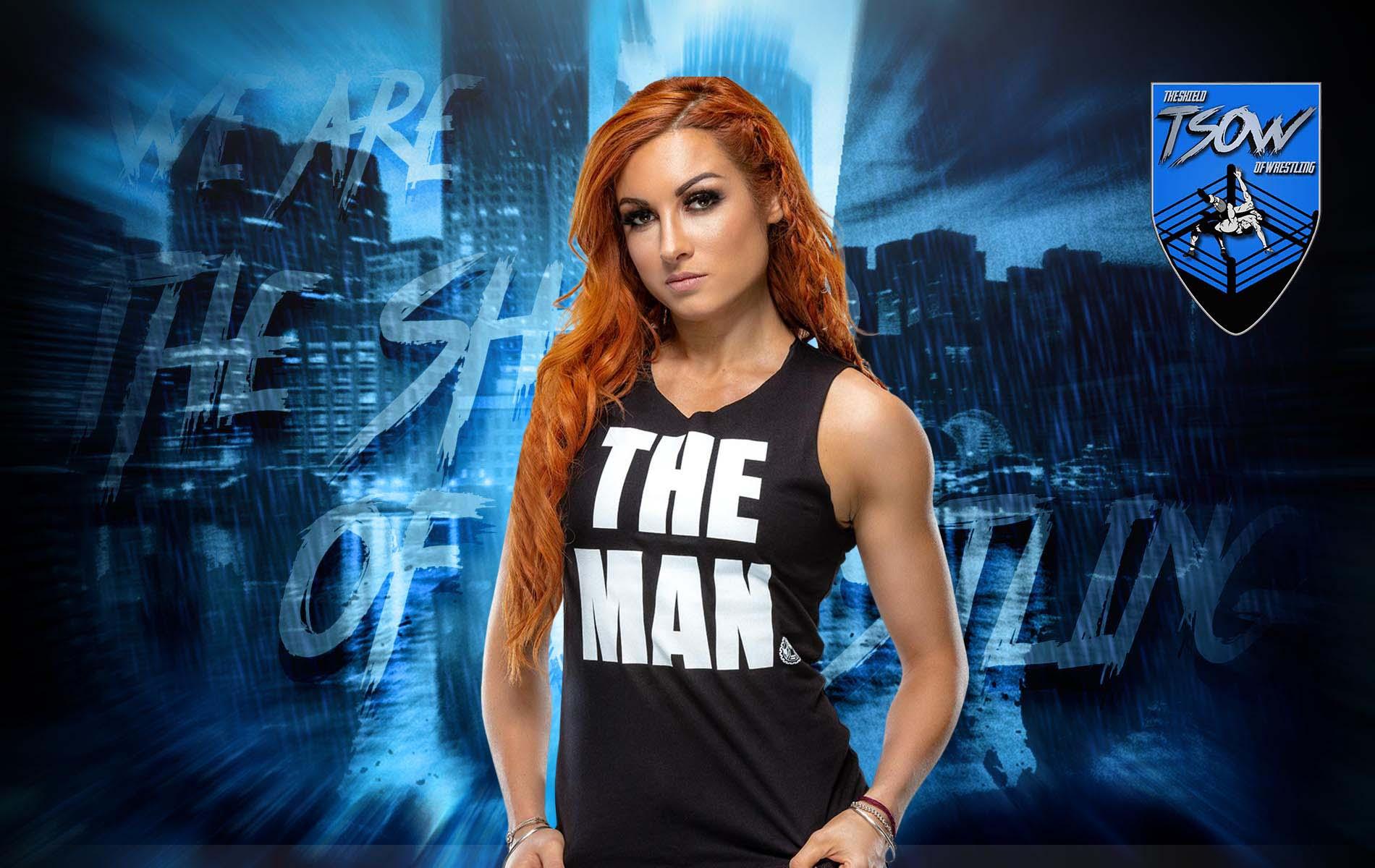 Becky Lynch presente nel backstage di SmackDown