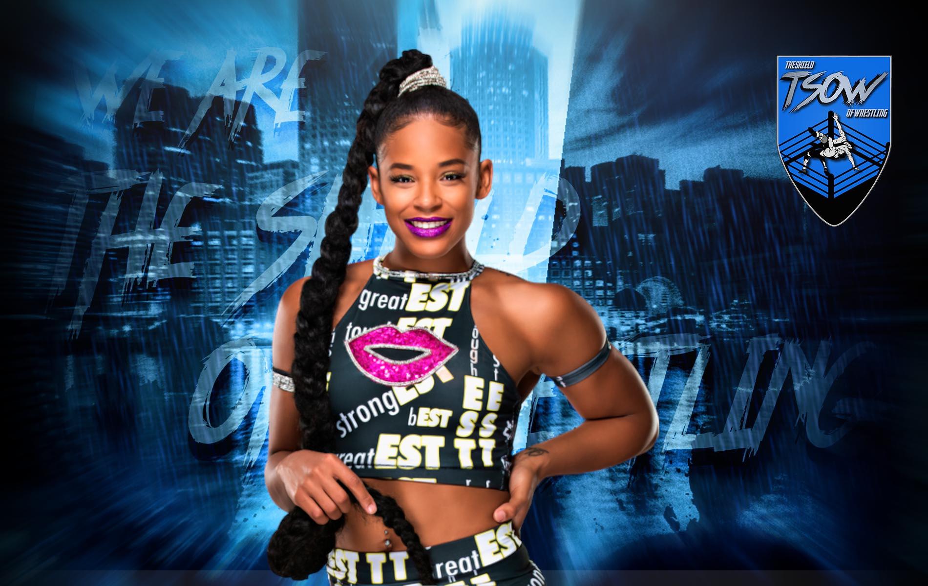 Bianca Belair: la celebrazione nel backstage di Royal Rumble