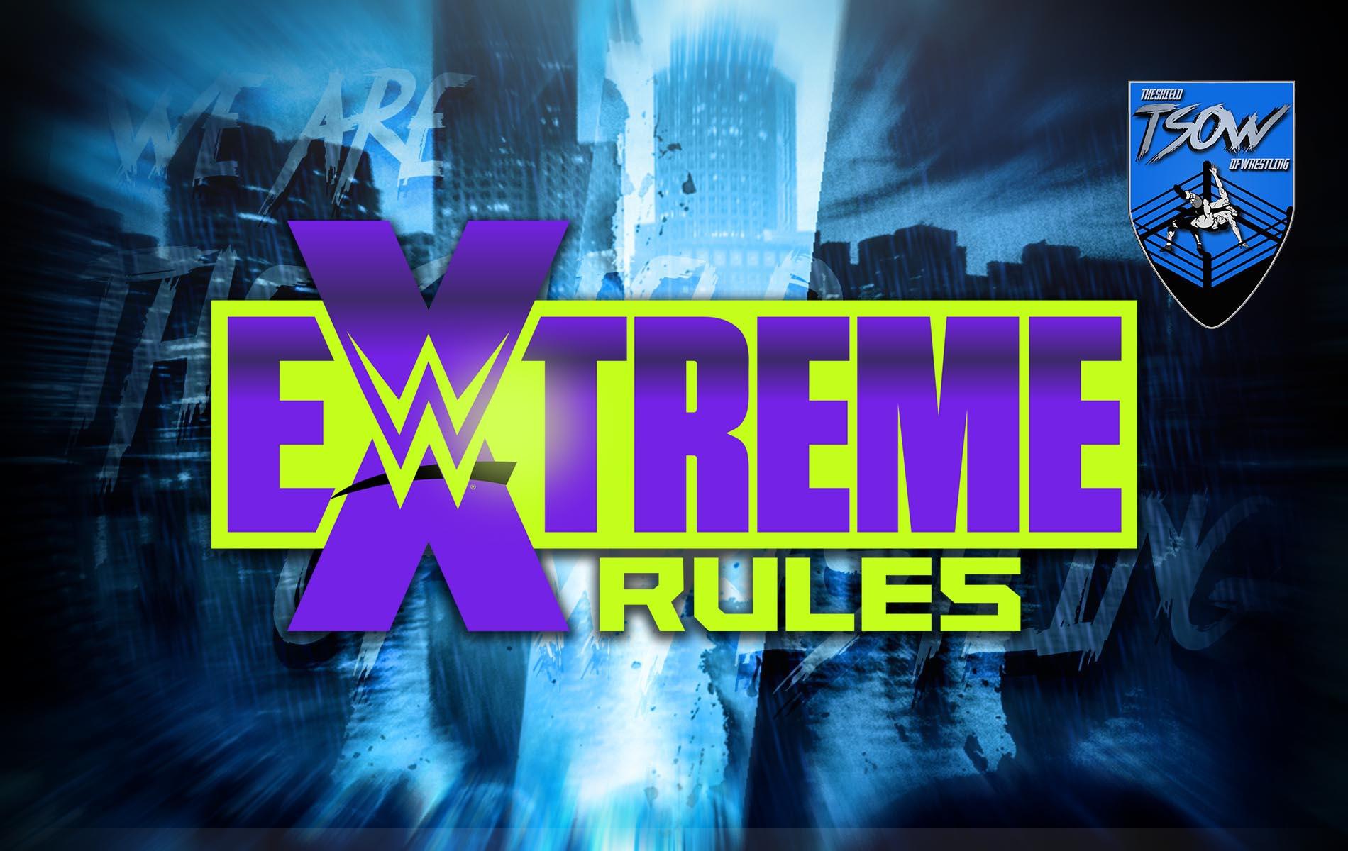 Aggiornamenti card Extreme Rules 2020