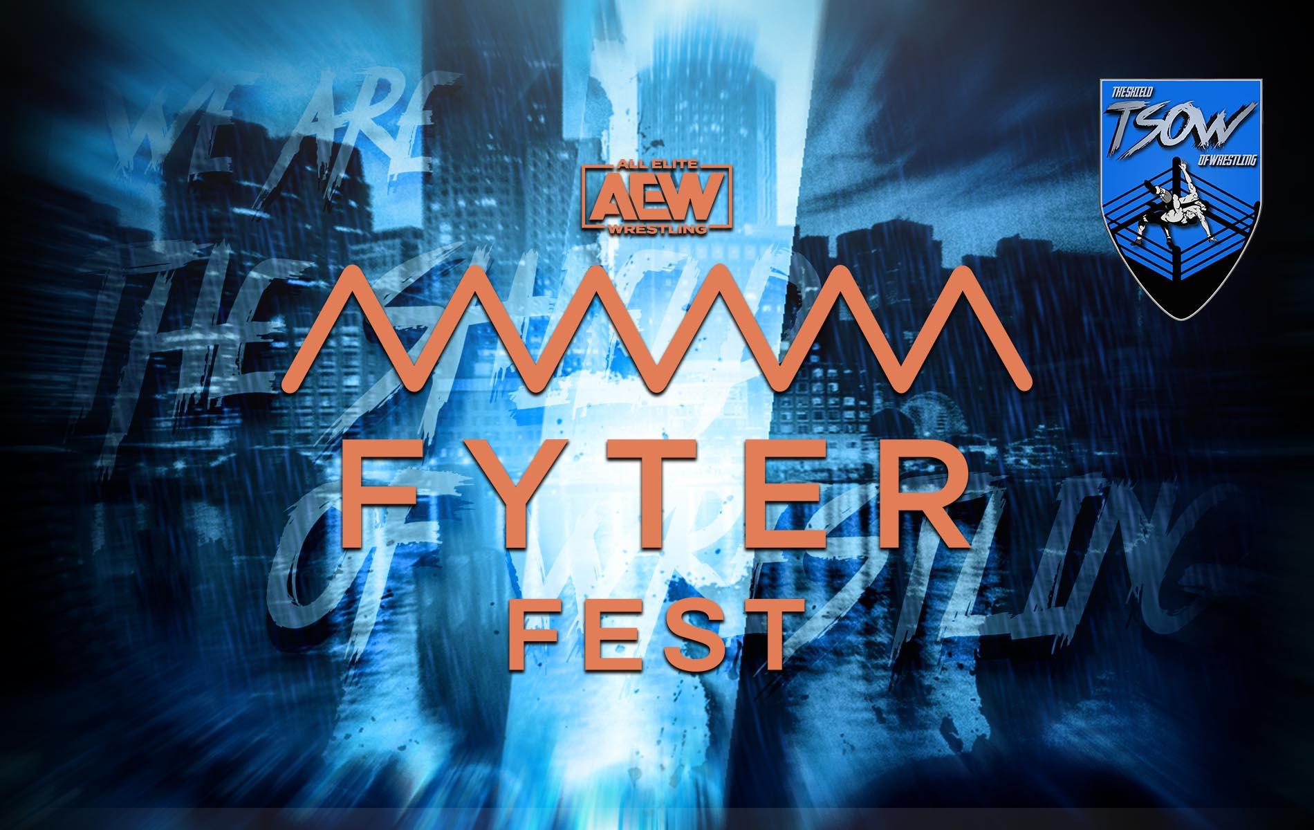 Fyter Fest: annunciati tre importanti match