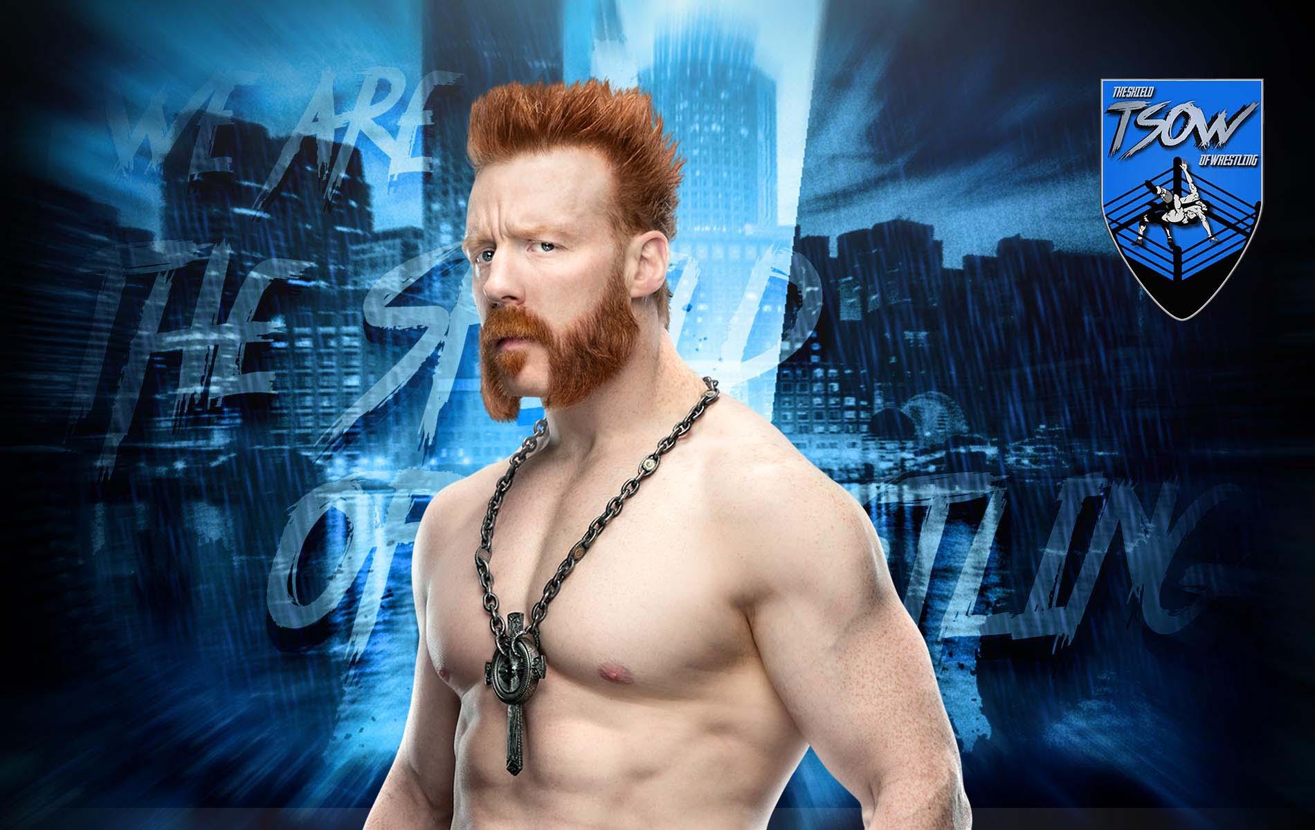 Sheamus si è rotto il naso durante RAW