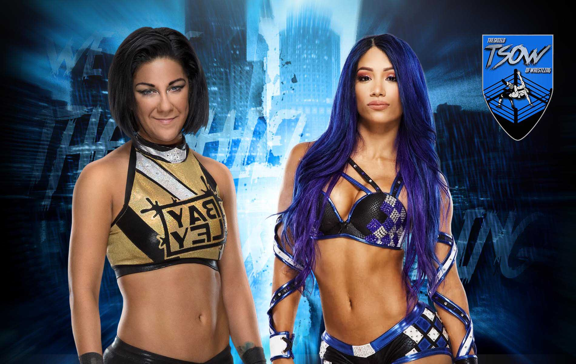 Sasha Banks ha sfidato Bayley in un Hell in a Cell Match