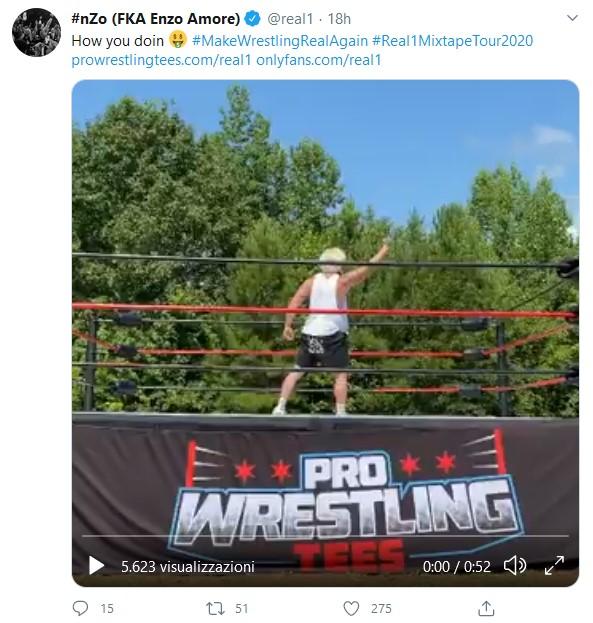 Enzo Amore porta il WWE Cruiserweight Championship nelle indy
