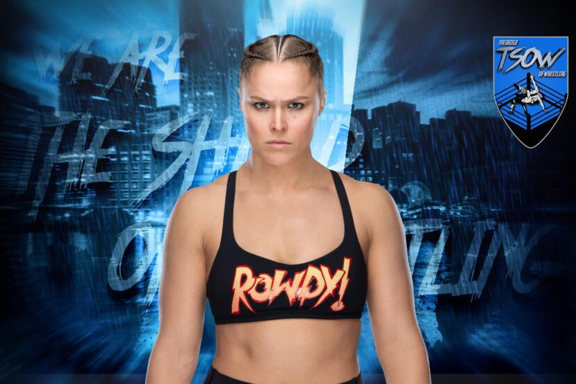 Ronda Rousey in un ring di wrestling per uno spot di World Of Warcraft
