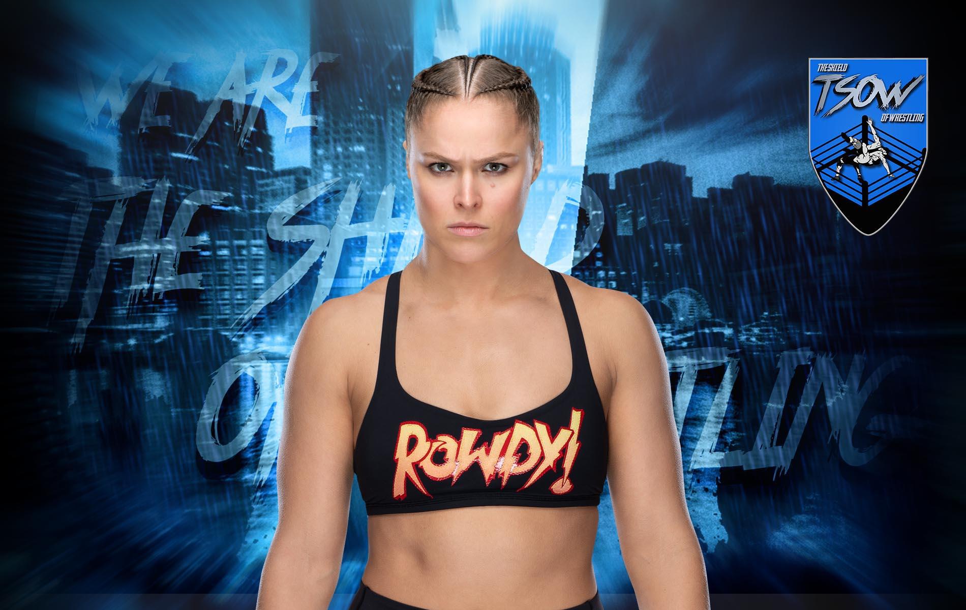 Ronda Rousey incinta: il messaggio della WWE