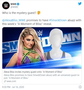 Alexa Bliss ospiterà una persona a sorpresa a SmackDown