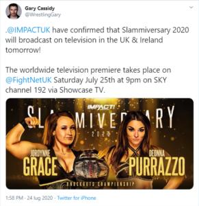 IMPACT Wrestling ritrasmetterà Slammiversary in Irlanda e in Regno Unito