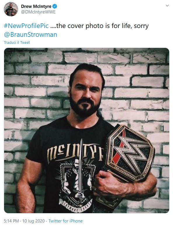 Braun Strowman lancia una sfida a Drew McIntyre