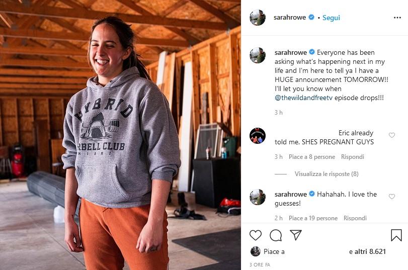 Sarah Logan è pronta a fare un grande annuncio riguardante la sua carriera