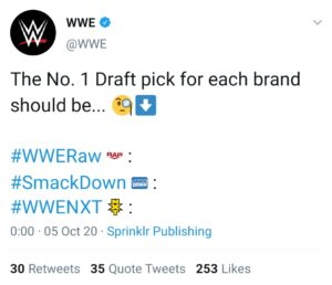 Draft WWE 2020: anche NXT sceglierà le proprie Superstar?
