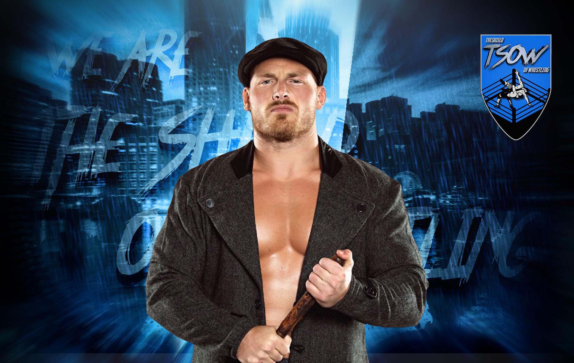 Ridge Holland portato via in barella: grave infortunio durante NXT