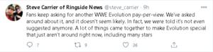 WWE Evolution: perché non è stato ancora prodotto un secondo evento?