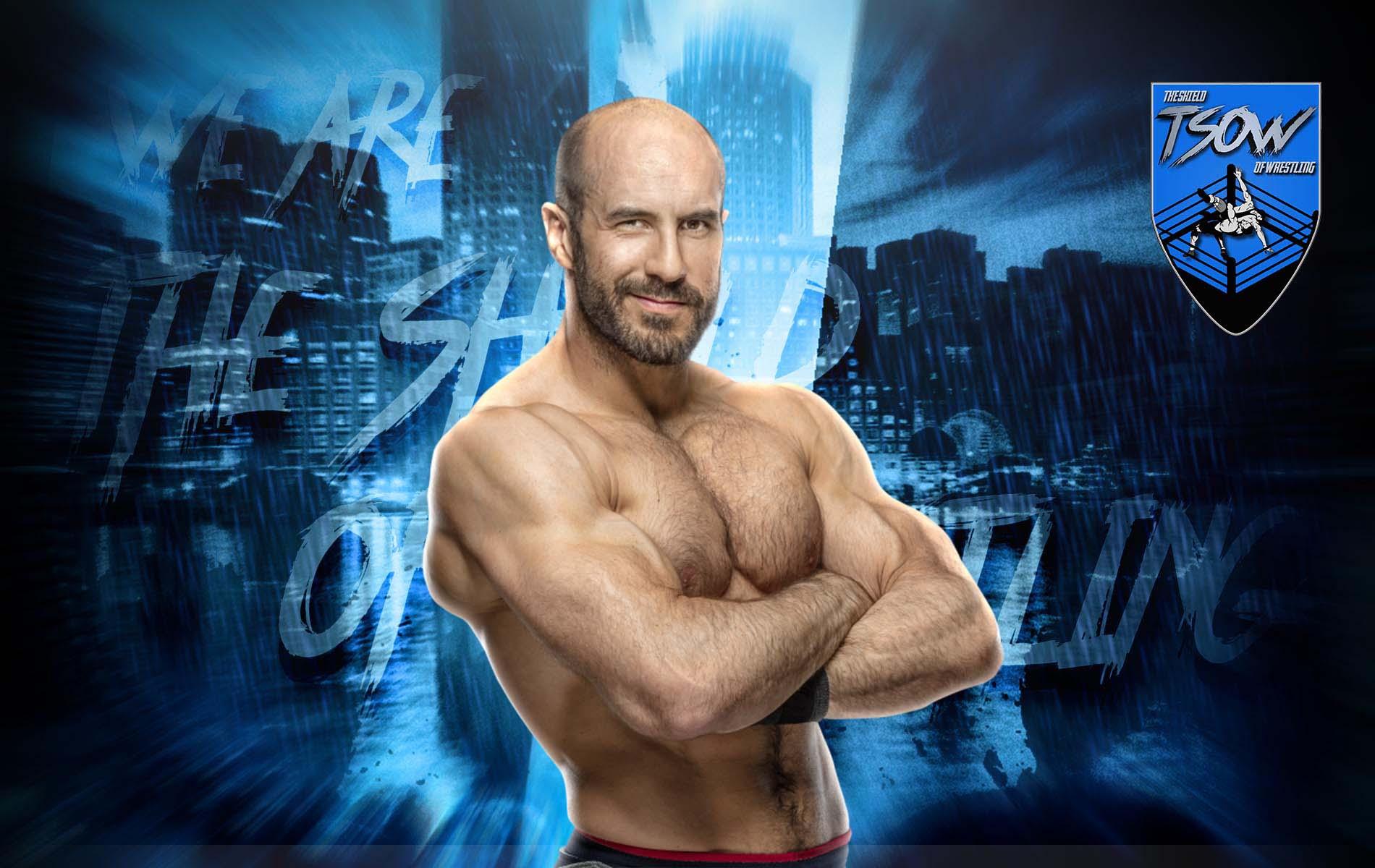 Cesaro: brutto taglio alla testa nel match con Daniel Bryan