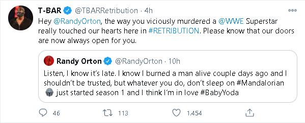 Randy Orton riceve l'invito ad unirsi alla RETRIBUTION