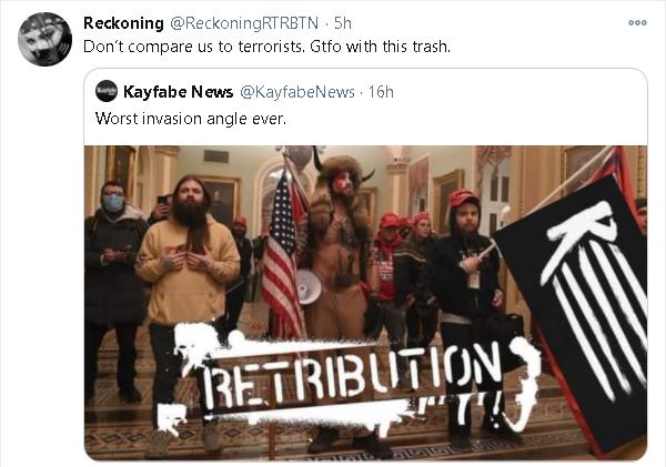 RETRIBUTION: la stable è stata paragonata all'invasione di Capitol Hill