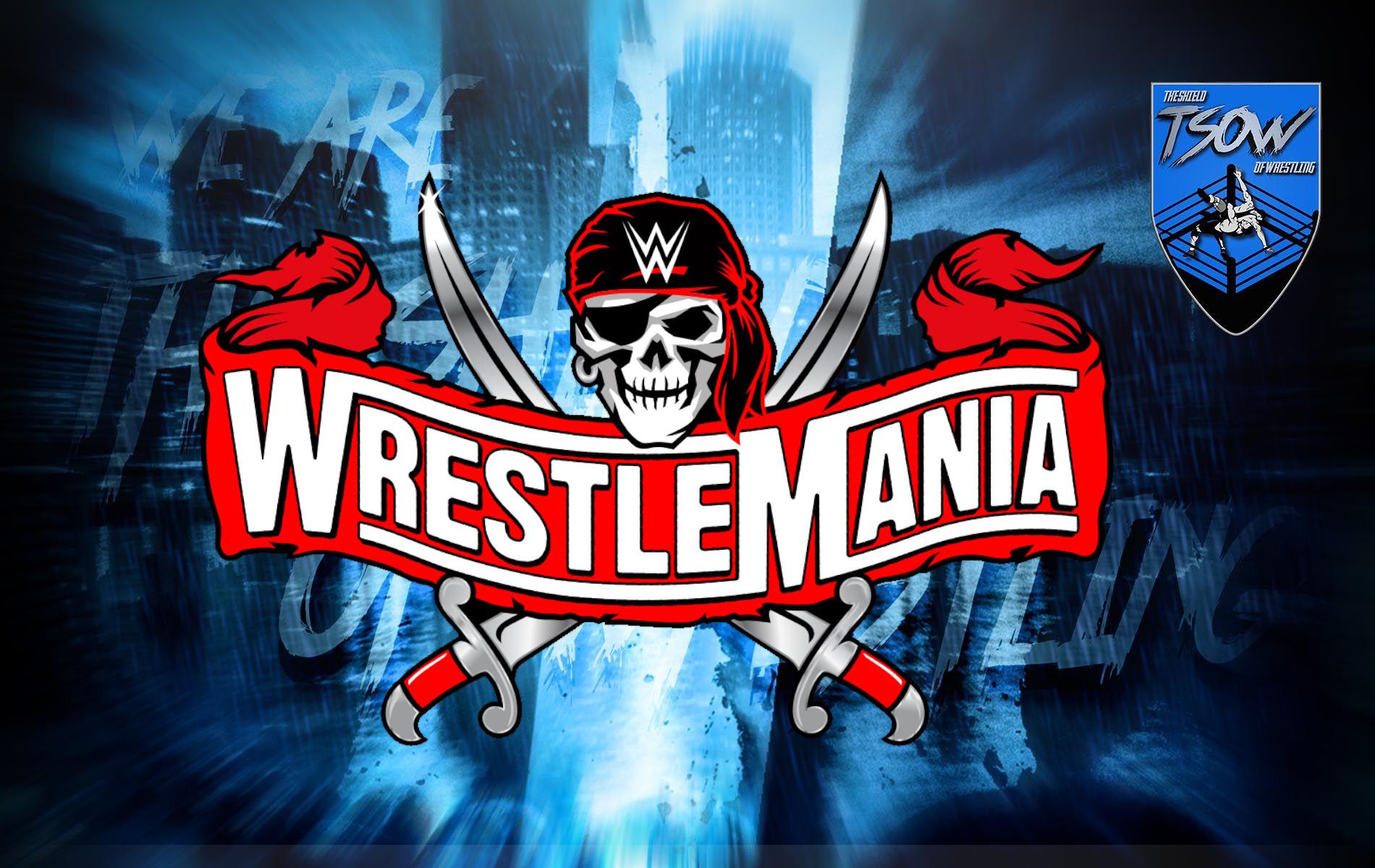 WrestleMania 37: la WWE ha deciso solo pochi match