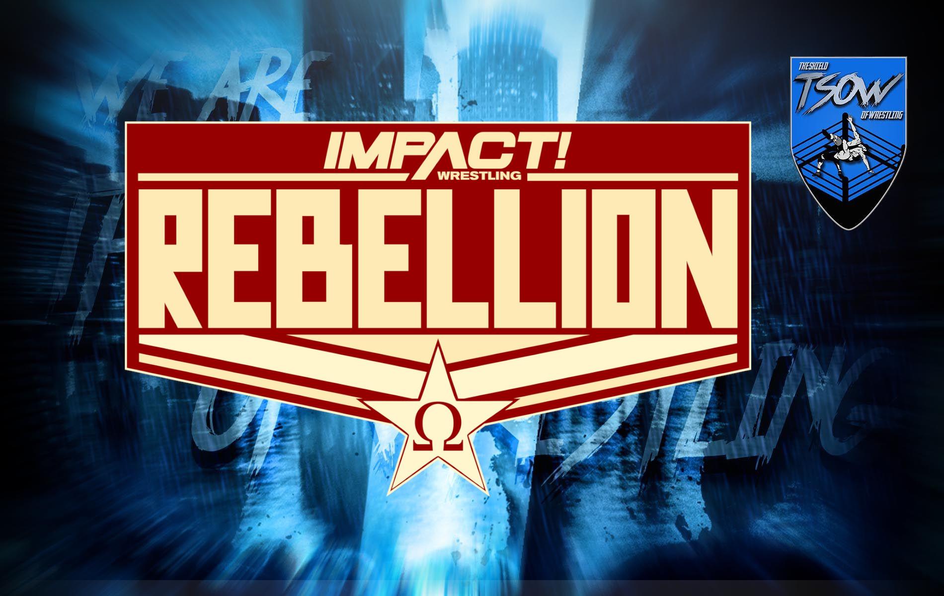 IMPACT Rebellion 2021 - Card del PPV di IMPACT Wrestling