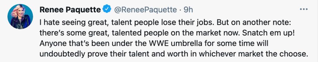 Renee Paquette parla dei recenti licenziamenti in WWE