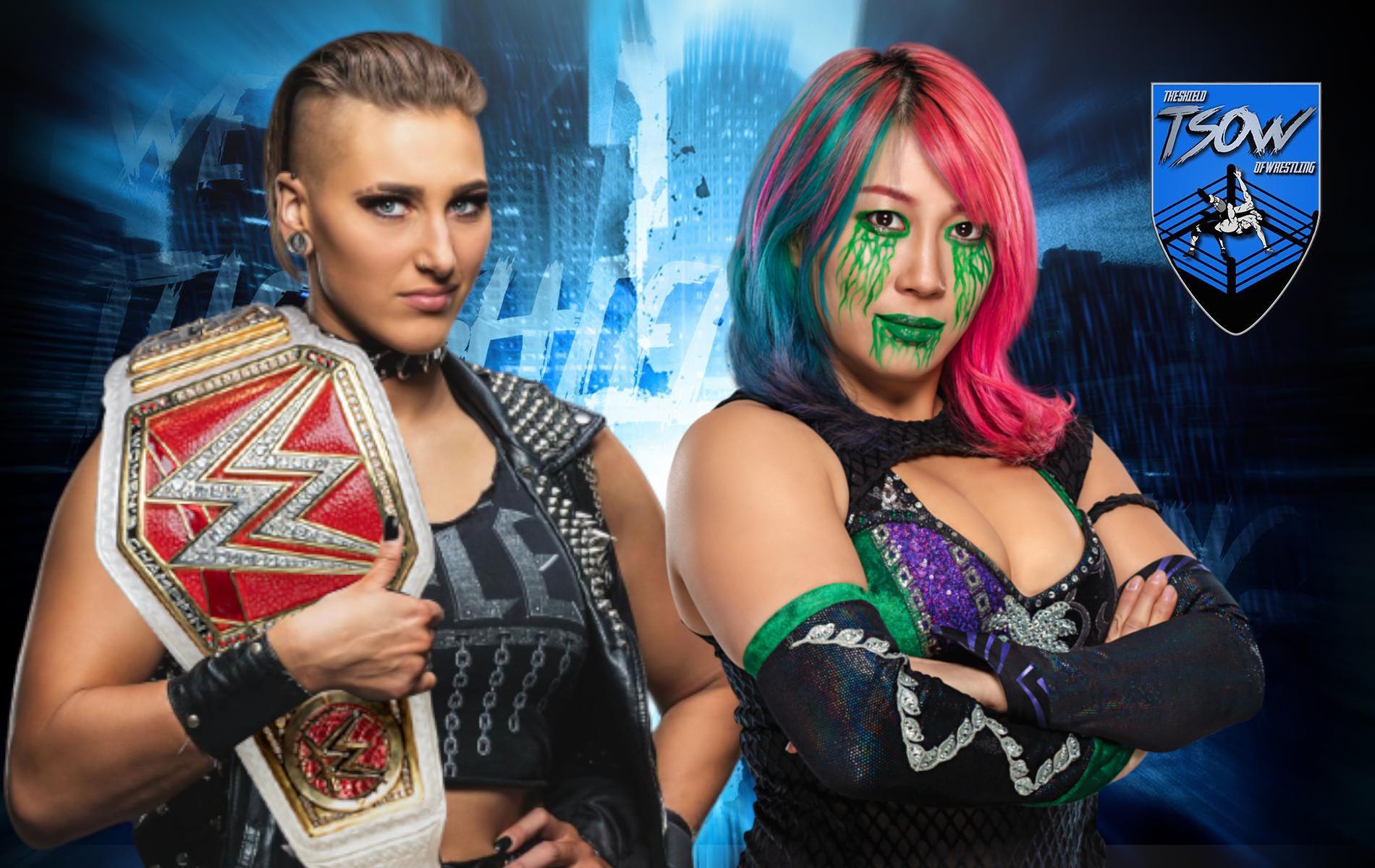 Rhea Ripley e Asuka: brutto botch nel loro match di RAW