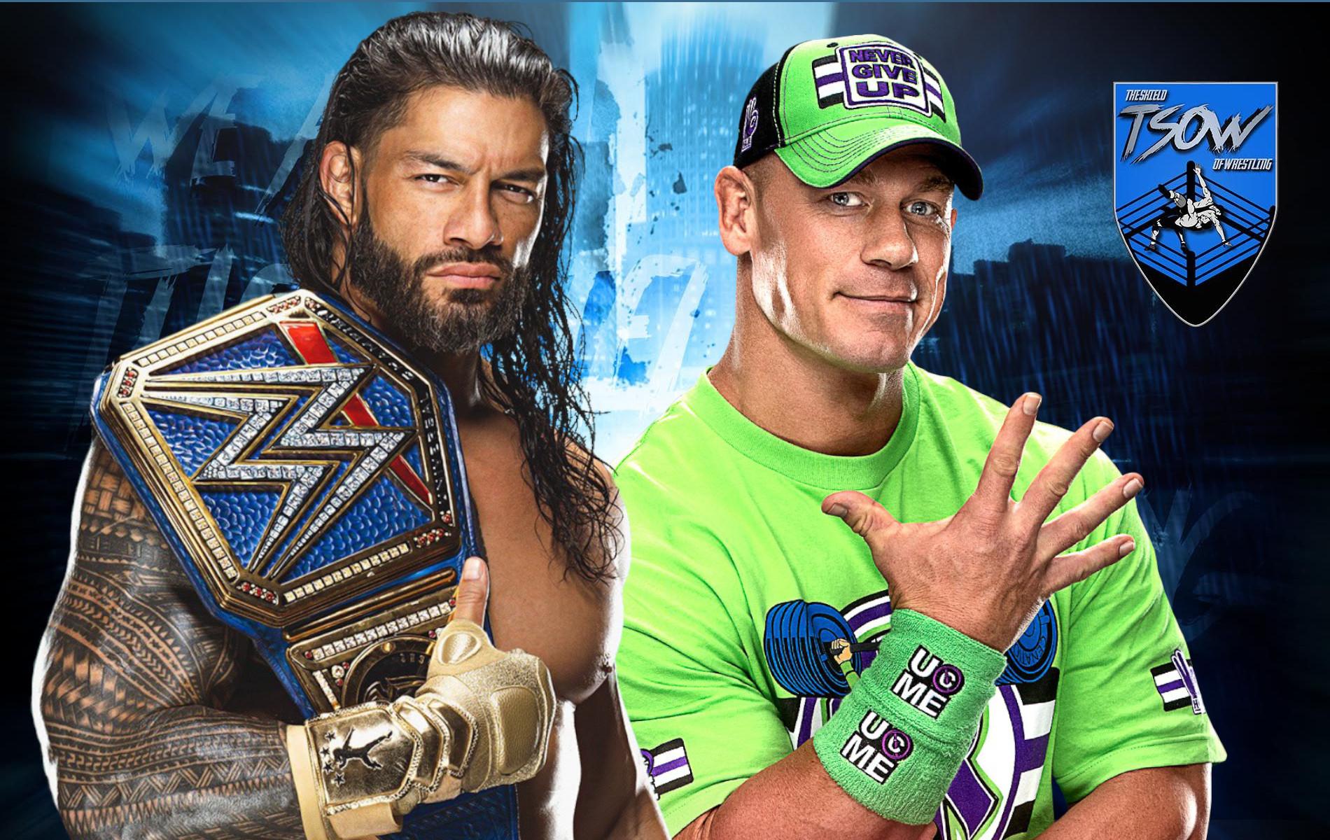 Roman Reigns vs John Cena sarà il main event di SummerSlam?