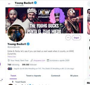 Young Bucks: il riferimento al botch di Jim Ross su Twitter