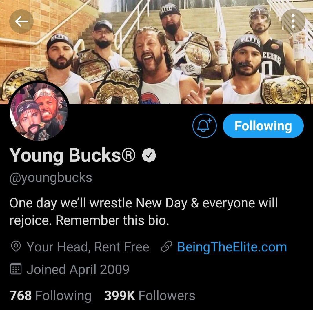 Young Bucks: sfida al New Day nella nuova bio