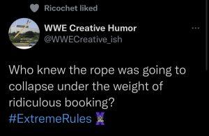 Ricochet: like ad un tweet irrisorio verso il team creativo